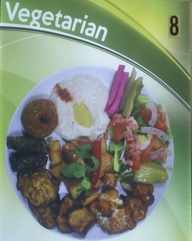 Falafel,Stuffed Grape Leave, Fried Eggplants, Fried Cauliflower, Baba Ghanooj, Garlic Potato, Hummus, and Salad...$12.29