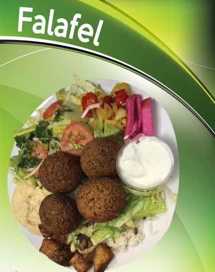Falafel (Chickpeas, Cilantro, G.Onions, and Spices) Topped with Tahini Sauce...$10.99